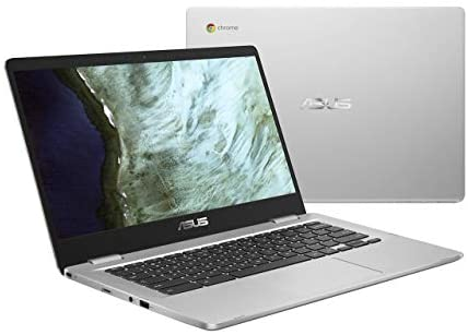 "ASUS Chromebook C423NA-DH02 14.0"" HD NanoEdge display Intel Dual Core Celeron Processor, 4GB RAM, 32GB eMMC storage, silver (Renewed) 1"