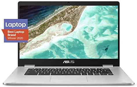 "ASUS Chromebook C523 Laptop computer- 15.6"" HD NanoEdge Show with 180 Diploma Hinge, Intel Twin Core Celeron N3350 Processor, 4GB RAM, 32GB eMMC Storage, Chrome OS- C523NA-DH02 Silver Coloration 1"