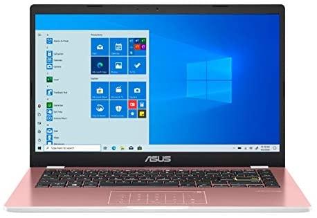 ASUS E410 Intel Celeron N4020 4GB 128GB eMMC 14-inch HD LED Win 10 Laptop (Pink) 1