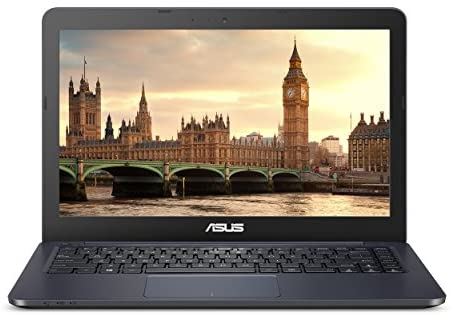 """ASUS L402WA-EH21 Thin and Light 14"""" HD Laptop; AMD E2-6110 Quad Core 1.5GHz Processor,AMD Radeon R2 Graphics,4GB RAM,32GB eMMC Flash Storage,Windows 10 S with FREE 1yr Office 365 Subscription Included 1"""