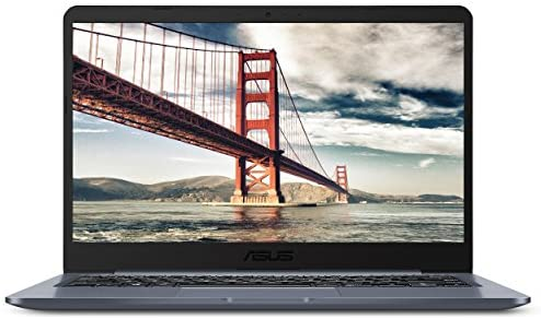 "ASUS Laptop L406 Thin and Light Laptop, 14"" HD Display, Intel Celeron N4000 Processor, 4GB RAM, 64GB eMMC Storage, Wi-Fi 5, Windows 10, Microsoft 365, Slate Gray, L406MA-WH02 1"