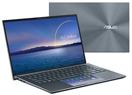 "ASUS ZenBook 14 Ultra-Slim Laptop 14"" FHD NanoEdge Bezel Display, Intel Core i7-1165G7, NVIDIA MX450, 16GB RAM, 512GB SSD, ScreenPad 2.0, Thunderbolt 4, Windows 10 Pro, Pine Grey, UX435EG-XH74 1"
