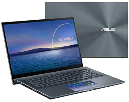"ASUS ZenBook 15 Ultra-Slim Laptop, 15""FHD Touch Display, Intel Core i7-10750H, GeForce GTX 1650 Ti, 16GB RAM, 1TB SSD, Innovative ScreenPad 2.0, Thunderbolt 3, Windows 10 Pro, Pine Grey, UX535LI-XH77T 1"
