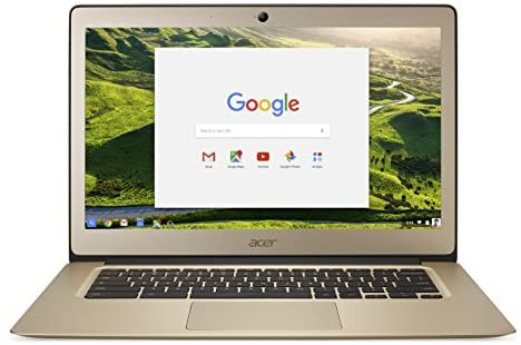 Acer Chromebook 14, Aluminum, 14-inch Full HD, Intel Celeron N3160, 4GB LPDDR3, 32GB, Chrome, Gold, CB3-431-C0AK 1