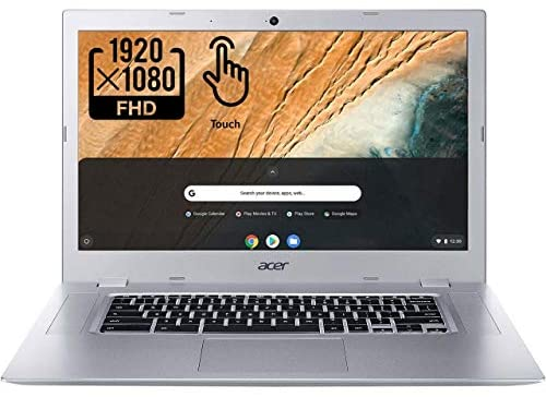 Acer Chromebook 315-2HT Touchscreen Laptop in Silver AMD A4 up to 2.5GHz 4GB RAM 32GB eMMC 15.6in Full HD Touch LCD Web Cam Chrome OS Gigabit WiFi (Renewed) 1