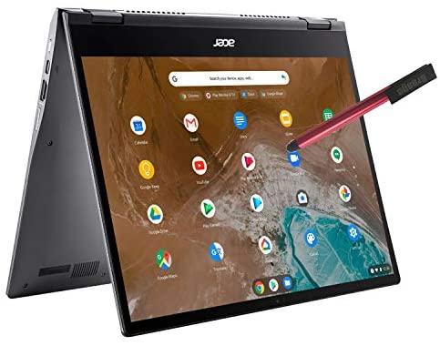 "Acer Chromebook Spin 713 13.5"" 2K Touchscreen 2-IN-1 Laptop computer Pc, Intel Quard-Core i5-10210U (Beats i7-7500U), 8GB DDR4 RAM, 128GB PCIe SSD, WiFi 6, Backlit KB, Chrome OS, BROAGE 64GB Flash Stylus 1"