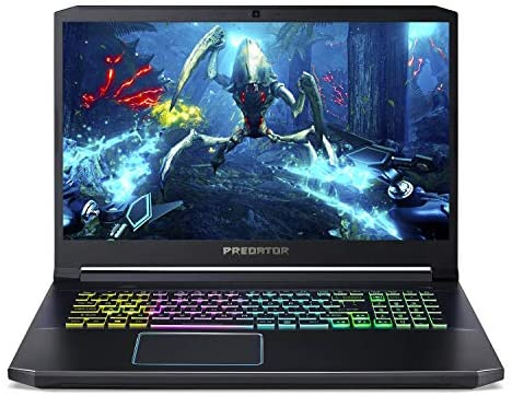 "Acer Predator Helios 300 Gaming Laptop PC, 17.3"" Full HD 144Hz 3ms IPS Display, Intel i7-9750H, GeForce GTX 1660 Ti 6GB, 16GB DDR4, 512GB NVMe SSD, RGB Backlit Keyboard, PH317-53-7777 1"