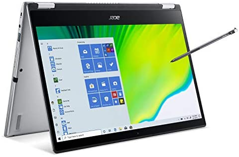 """Acer Spin 3 Convertible Laptop, 14"""" Full HD IPS Touch, 10th Gen Intel Core i5-1035G4, 8GB LPDDR4, 512GB NVMe SSD, WiFi 6, Backlit KB, Fingerprint Reader, Rechargeable Active Stylus, SP314-54N-50W3 1"""
