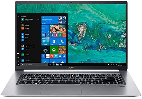 """Acer Swift 5 15.6"""" Extremely-Skinny & Light-weight Laptop computer, FHD Touchscreen, Intel Core i7-8565U, IPS, Again-lit Keyboard, Home windows 10, Silver (16GB RAM   512GB PCIe SSD + 512GB SSD) 1"""