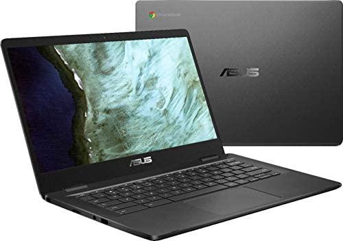 "Asus 14.0"" HD Chromebook Laptop PC, Intel Dual Core Celeron N3350 Processor, 4GB RAM, 32GB eMMC, Chrome OS, Grey 1"