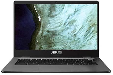 Asus Intel Celeron N3350 4GB Reminiscence 32GB eMMC 14-Inch Chromebook (Slate Grey) 1