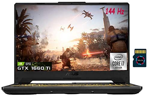 "Asus TUF F15 2021 Premium Gaming Laptop I 15.6"" FHD 144Hz I Intel Octa-Core i7-10870H I 16GB DDR4 512GB SSD 1TB HDD I GeForce GTX 1660 Ti 6GB I RGB Backlit DTS Webcam Win10 + Delca 32GB Micro SD Card 1"