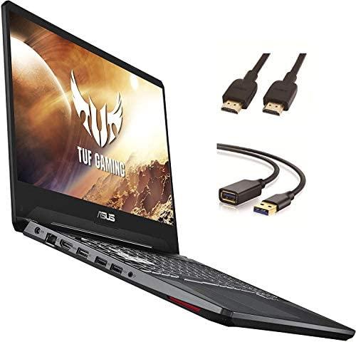 """Asus TUF Gaming Laptop, 15.6"""" IPS Full HD, AMD Quad-Core Ryzen 7 3750H, Nvidia GeForce GTX 1650, RGB Backlit Keyboard, Webcam, BT, Windows 10 + CUE Accessories (8GB DDR4, 256GB SSD) 1"""