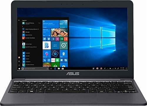 "Asus Vivobook E203MA Thin and Lightweight 11.6"" HD Laptop, Intel Celeron N4000 Processor, 4GB RAM, 64GB eMMC Storage, 802.11AC Wi-Fi, HDMI, USB-C, Win 10 1"