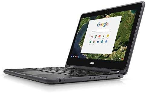 """Dell Chromebook 3189 Intel Celeron N3060 X2 2.48GHz 4GB 16GB 11.6"""" Touch,Black (Renewed) 1"""
