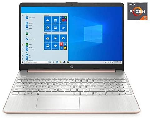 "HP 15.6"" Ryzen 5 8GB/256GB Laptop-Rose Gold 1"