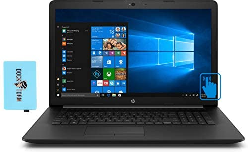 "HP 17-R5 Home and Business Laptop (AMD Ryzen 5 3500U 4-Core, 16GB RAM, 256GB PCIe SSD, AMD Vega 8, 17.3"" Touch HD+ (1600x900), WiFi, Bluetooth, Webcam, 2xUSB 3.1, 1xHDMI, Win 10 Home) with Hub 1"