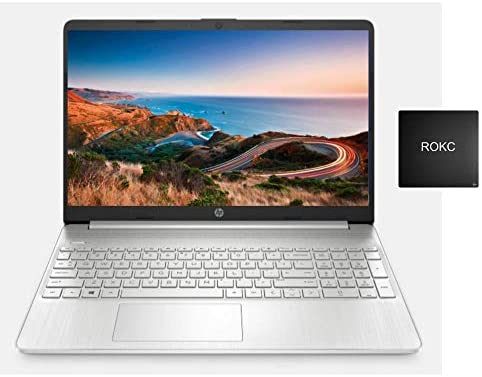 "HP 2021 Premium 15.6"" FHD Touchscreen Laptop Computer, 4 Core Intel Core i7-1065G7 1.30 GHz, 16GB RAM, 512GB SSD, No DVD, Webcam, Bluetooth, Wi-Fi, HDMI, Win 10, ROKC Mousepad 1"