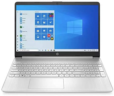 HP Premium 15-Inch HD 256GB SSD 2.4GHz AMD Athlon Gold Processor Non Touch Laptop (4GB RAM, AMD Radeon Graphics, Webcam, USB-C, HDMI, SD Card Reader, Windows 10 Home S) Natural Silver, 15-ef1040nr 1