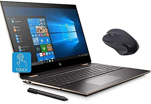 """HP Spectre x360 2-in-1 Touchscreen Laptop computer, 4K UHD 15.6"""", Core i7-10510U, GeForce MX330 2GB Graphics, 16GB RAM, Backlit, Thunderbolt 3, 1TB NVMe PCIe SSD, Mytrix Wi-fi Mouse, Win 10 (Renewed) 1"""