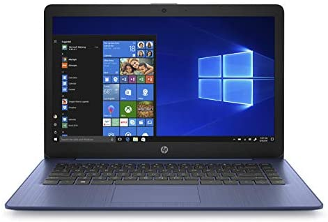 HP Stream 14-inch Laptop, Intel Celeron N4000, 4 GB RAM, 64 GB eMMC, Windows 10 Home in S Mode with Office 365 Personal for 1 Year (14-cb185nr, Royal Blue) 1