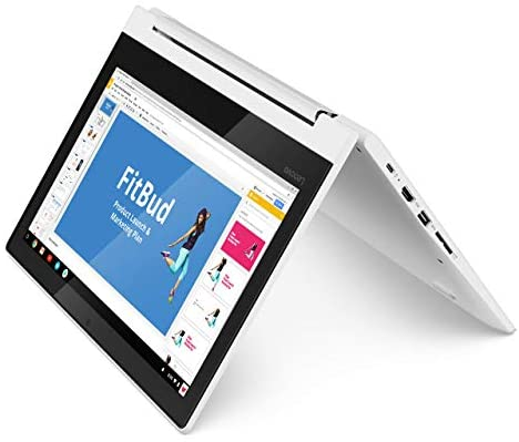 Lenovo Chromebook C330 2-in-1 Convertible Laptop, 11.6-Inch HD (1366 x 768) IPS Display, MediaTek MT8173C Processor, 4GB LPDDR3, 64 GB eMMC, Chrome OS, 81HY0000US, Blizzard White 1