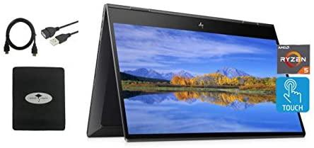 Newest HP Envy X360 2in1 Laptop, 15.6'' FHD Touchscreen, AMD Ryzen 5 4500U(Beat i7-7500U), 16GB RAM, 512GB SSD, Backlit Keyboard, Fingerprint Reader, Fast Charge, Webcam, Win10, w/Gm 3in1 Accessories 1