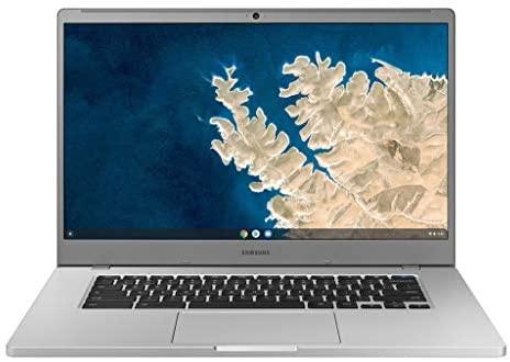 """SAMSUNG XE350XBA-K01US Chromebook 4 + Chrome OS 15.6"""" Full HD Intel Celeron Processor N4000 4GB RAM 32GbEmmc Gigabit Wi-Fi, Silver 1"""