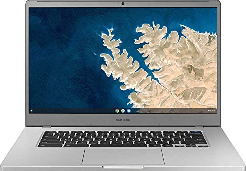 """Samsung Chromebook 4 15.6"""" FHD Laptop Computer for Business Student, Intel Celeron N4000 up to 2.6GHz, 4GB LPDDR4 RAM, 32GB eMMC, 802.11ac WiFi, Webcam, Chrome OS, iPuzzle MousePad, Online Class Ready 1"""