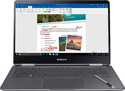 """Samsung Notebook 9 Pro NP940X5N-X01US 15"""" FHD 2-in-1 Touch Screen Laptop, 8th Gen Intel Quad-Core i7-8550U Up To 4GHz, 16GB DDR4, 256GB SSD, Backlit Keyboard, Windows 10, Built-in S Pen, Titan Silver 1"""