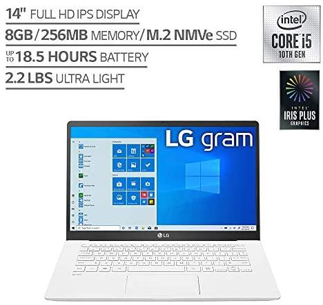 LG Gram Laptop computer 14Inch Full HD IPS Show, Intel tenth Gen Core i51035G7 CPU, 8GB RAM, 256GB M.2 NVMe SSD, Thunderbolt 3, 18.5 Hour Battery Life 14Z90N 2020 14Z90NU.ARW5U1 2