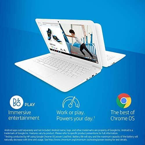 HP Chromebook 14-Inch Laptop computer with 180-Diploma Hinge, Full HD Display, AMD Twin-Core A4-9120 Processor, 4 GB SDRAM, 32 GB eMMC Storage, Chrome OS (14-db0050nr, Snow White) 2