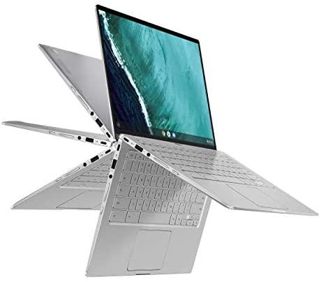 "ASUS Chromebook Flip C434TA-DSM4T 2-in-1 Laptop computer 14"" Touchscreen Full HD 4-Method NanoEdge, Intel Core m3-8100Y Processor, 4GB RAM, 64GB eMMC Storage, Chrome OS (Renewed) 1"
