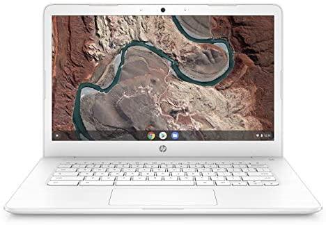 HP Chromebook 14-Inch Laptop computer with 180-Diploma Hinge, Full HD Display, AMD Twin-Core A4-9120 Processor, 4 GB SDRAM, 32 GB eMMC Storage, Chrome OS (14-db0050nr, Snow White) 1