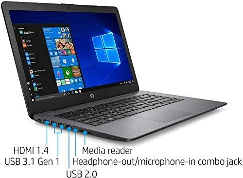 "2021 HP Stream 14"" HD Skinny and Gentle Laptop computer, Intel Celeron N4000 Processor, 4GB RAM, 64GB eMMC, HDMI, Webcam, WiFi, Bluetooth, 1 Yr Workplace 365, Home windows 10 S, Sensible Black, W/ IFT Equipment 5"