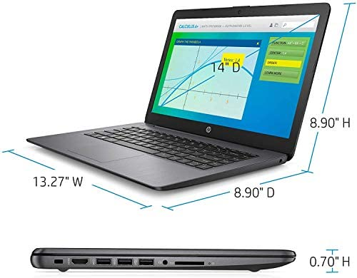 "2021 HP Stream 14"" HD Skinny and Gentle Laptop computer, Intel Celeron N4000 Processor, 4GB RAM, 64GB eMMC, HDMI, Webcam, WiFi, Bluetooth, 1 Yr Workplace 365, Home windows 10 S, Sensible Black, W/ IFT Equipment 4"