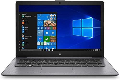"2021 HP Stream 14"" HD Skinny and Gentle Laptop computer, Intel Celeron N4000 Processor, 4GB RAM, 64GB eMMC, HDMI, Webcam, WiFi, Bluetooth, 1 Yr Workplace 365, Home windows 10 S, Sensible Black, W/ IFT Equipment 2"