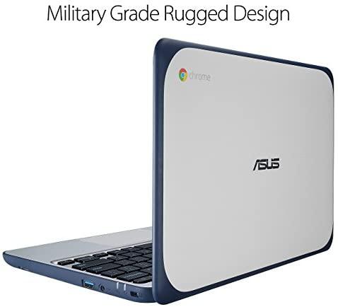 ASUS Chromebook C202SA-YS02 11.6in Ruggedized and Water Resistant Design with 180 Diploma (Intel Celeron 4 GB, 16GB eMMC, Darkish Blue, Silver) (Renewed) 3