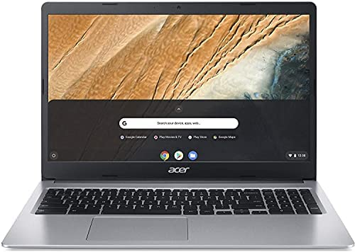"""Acer Chromebook 315 Laptop Computer/ 15.6"""" Screen for Business Student/ Intel Celeron N4000 up to 2.6GHz/ 4GB DDR4/ 32GB eMMC/ 802.11AC WiFi/ Work from Home/ Silver/ Chrome OS 1"""