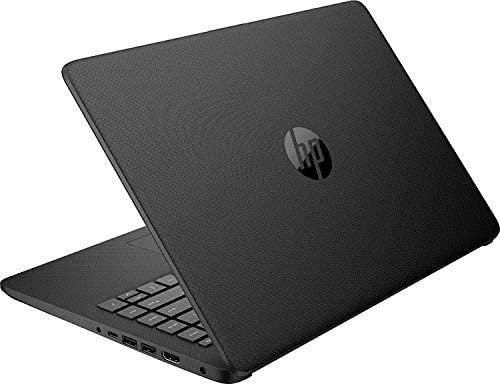 2020 Newest HP 14 Inch Premium Laptop, AMD Athlon Silver 3050U up to 3.2 GHz(Beat i5-7200U), 8GB DDR4 RAM, 128GB SSD, Bluetooth, Webcam,WiFi,Type-C, HDMI, Windows 10 S, Black + Laser HDMI 2